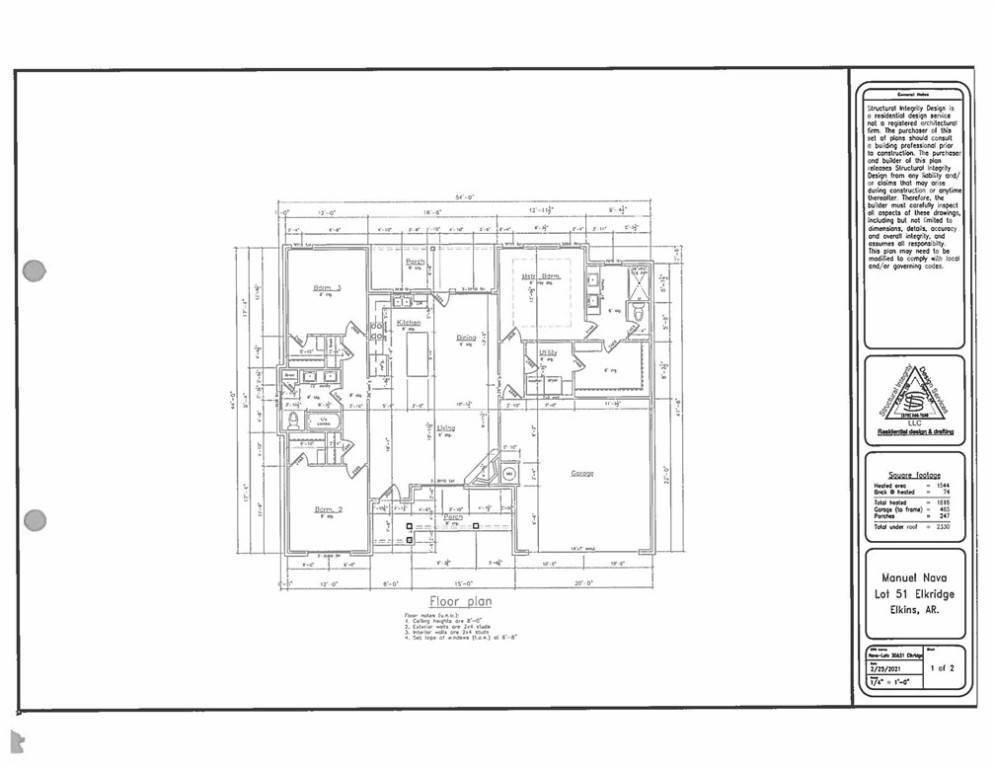 3. Single Family Homes for Sale at 285 Alexandra Loop Elkins, Arkansas 72727 United States